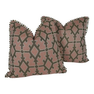 Contemporary Kravet Indoor/Outdoor Pillows - a Pair For Sale