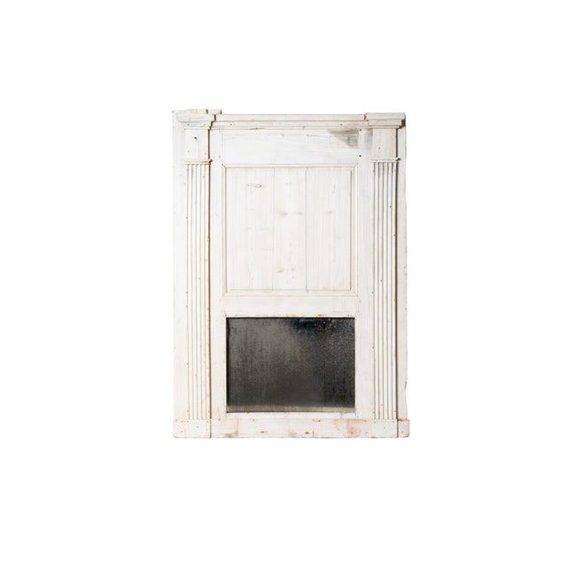 Antique French Trumeau Mirror For Sale - Image 4 of 4