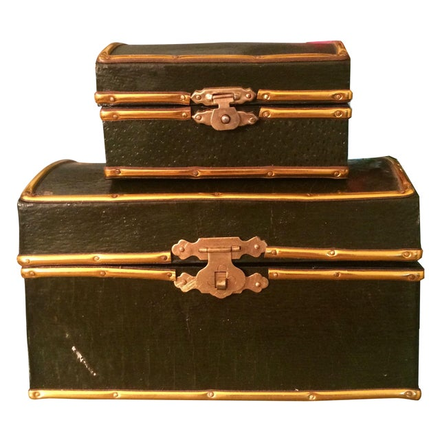 Nesting Table Trunks - A Pair - Image 1 of 10