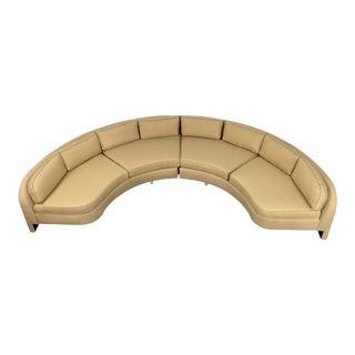 Modern Vladimir Kagan Style Large Curved Sofa For Sale
