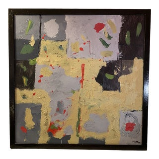 Large Contemporary Abstract Painting, Framed For Sale