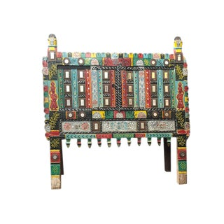 Antique Artistic Dowry Chest Indi Banjara Handcrafted Damchiya For Sale