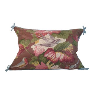 Vintage Jane McCarty Chintz Pillow For Sale