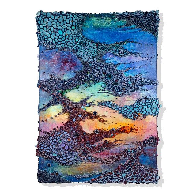 """2010s Amy Genser """"Laissez Les Bon Temps Rouler"""" Dimensional Paper on Canvas Collage For Sale - Image 5 of 5"""