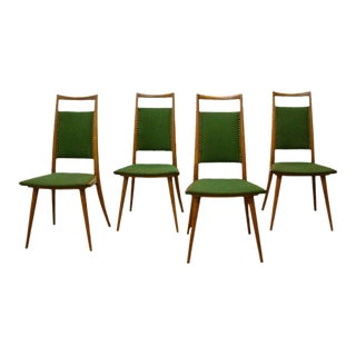 Italian Oak Side Chairs - Set of 4 For Sale