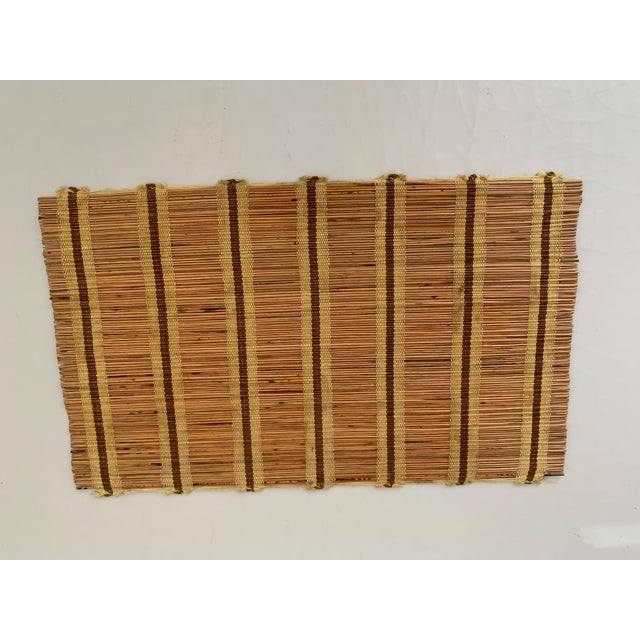 Maria Kipp Maria Kipp Style Mid-Century Wood Woven Placemats - Set of 9 For Sale - Image 4 of 8