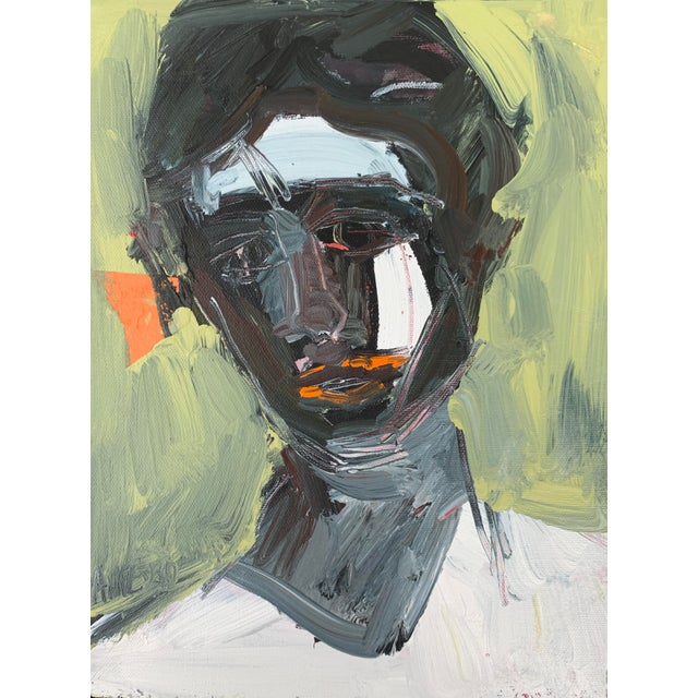 """Abstract Portrait """"Figure Study Portrait I"""" by Anne Darby Parker For Sale"""