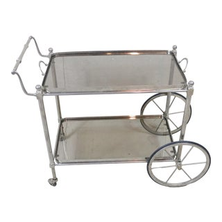 French Mid 20th Century Serving Cart For Sale