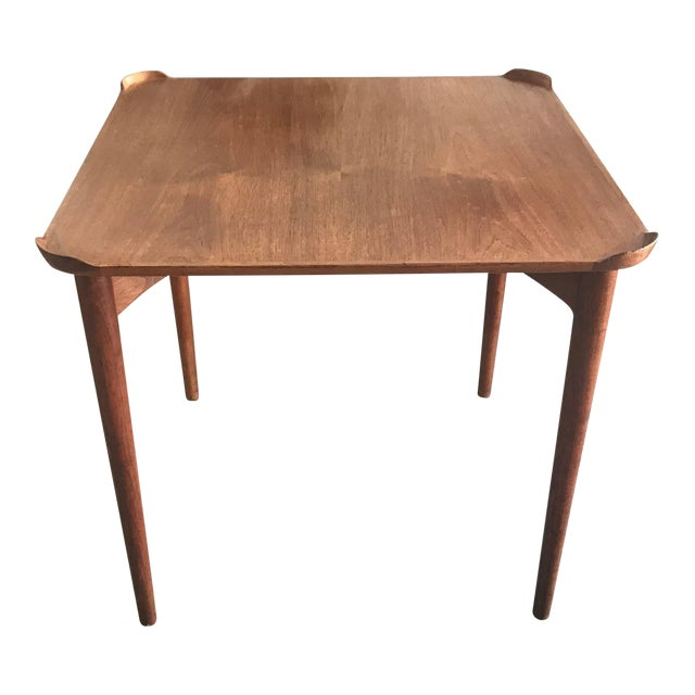 1950s Mid-Century Modern Finn Juhl for Baker Teak Card Table For Sale