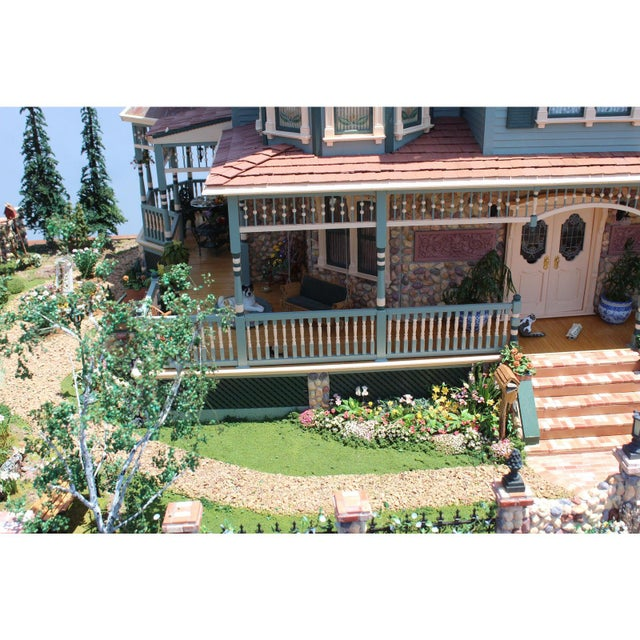 Massive 7 Foot With Case Doll House From the Heritage Museum l.a on S. Calif. Architecture For Sale - Image 9 of 11