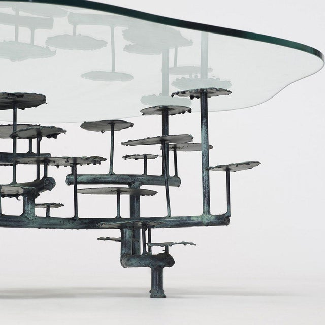 Brutalist Silas Seandel Bronze Coffee Table For Sale - Image 3 of 5
