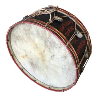 Antique Marching Band Drum From the Church Lad's Brigade For Sale