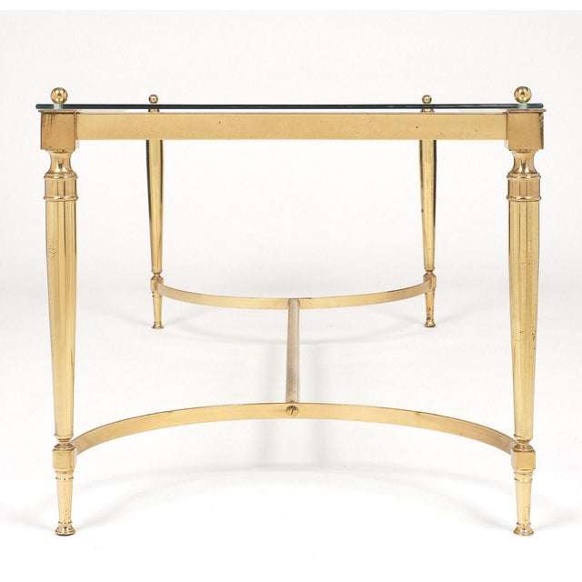 Mid-Century Vintage Brass Coffee Table For Sale - Image 9 of 10