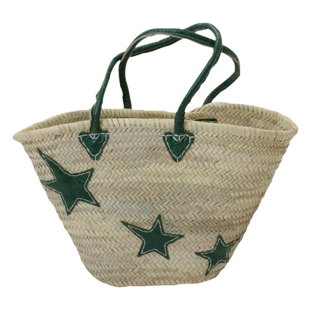 Green Star Motif Market Basket - Image 1 of 3