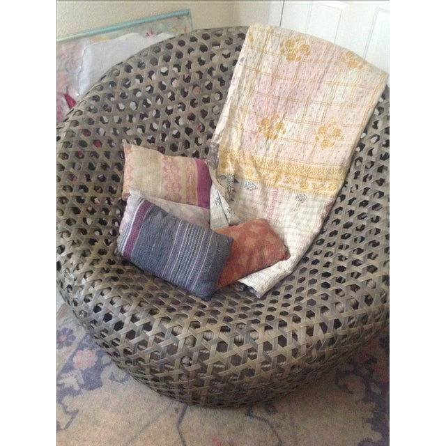 Modernist Rattan Wire Chair - Image 5 of 11