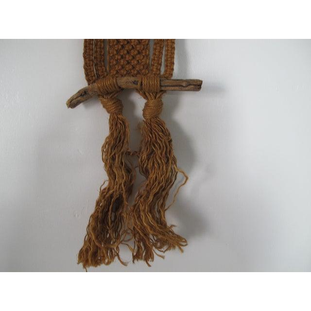 1970s Macrame Owl Wall Hanging - Image 4 of 5