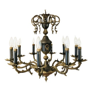 Vintage French Empire 10 Light Chandelier