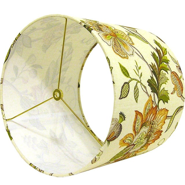 Amber Floral Drum Lamp Shade - Image 2 of 2