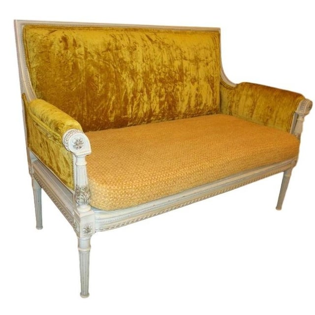 Antique Maison Jansen Style Settee in a Swedish Finish - Image 1 of 7