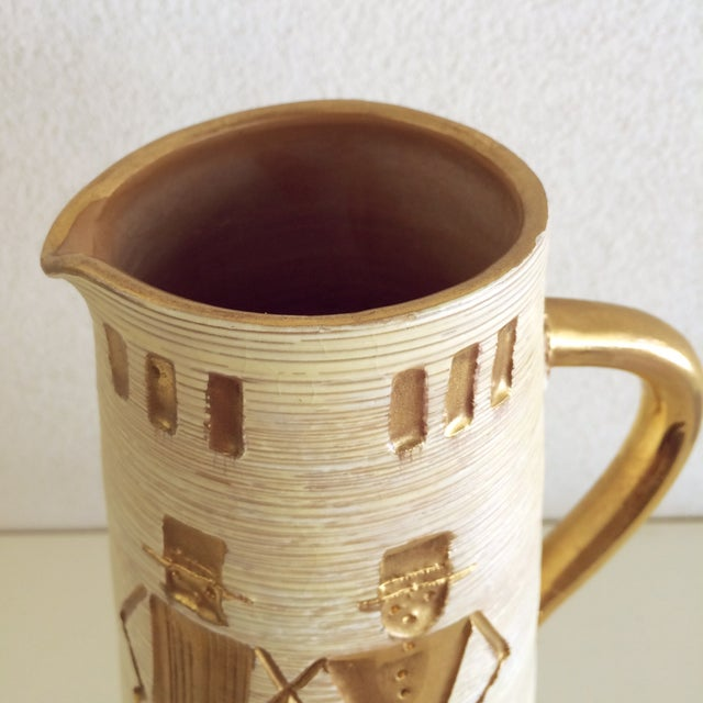 Fratelli Fanciullacci Gold Accented Pitcher - Image 5 of 5