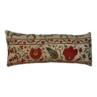 1990s Hand Embroidered Suzani Pillow For Sale