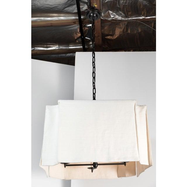 Modern Draped Linen Chandelier by Paul Marra For Sale In Los Angeles - Image 6 of 9