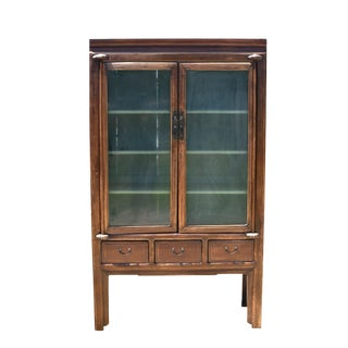 19th Century Ming Glass Curio Cabinet