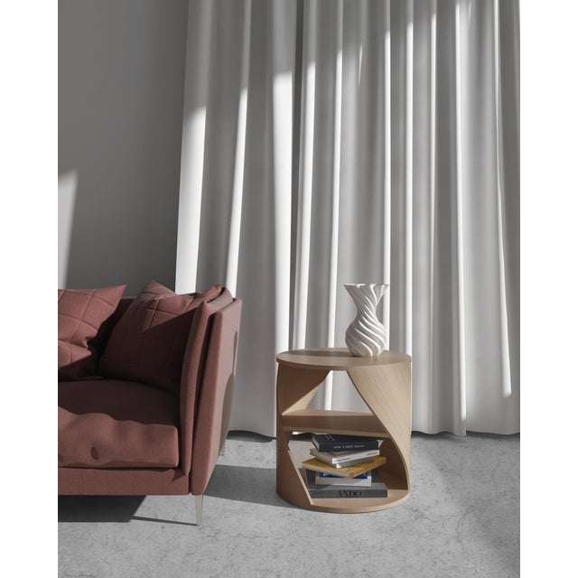 Mydna Teak Decorative Side Table by Joel Escalona For Sale - Image 6 of 10