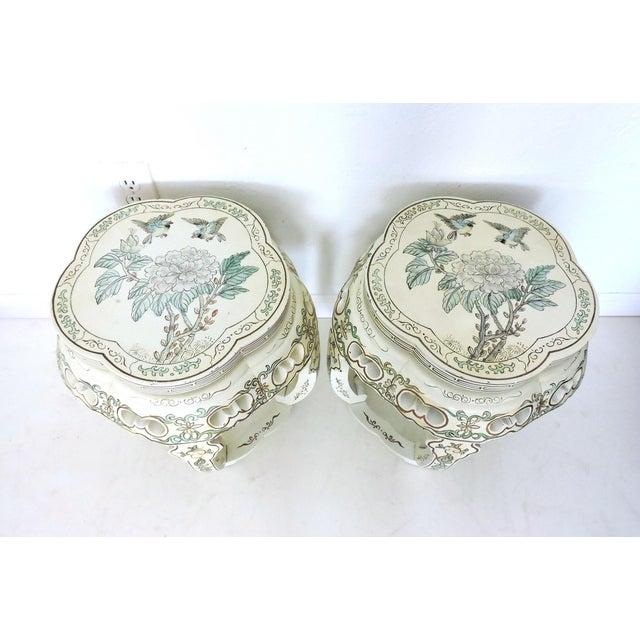 Vintage Oriental Garden Stools - a Pair - Image 6 of 8