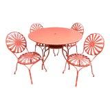 Image of Francois Carré Sunburst Patio Furniture For Sale