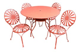 Image of Orange Outdoor Tables