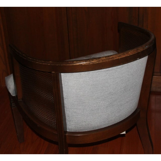 Morganton Barrel Cane Chairs - A Pair For Sale - Image 4 of 5