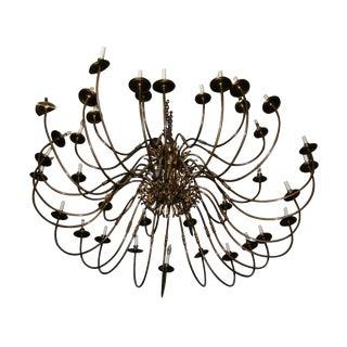 Antique Brass Williamsburg Ballroom Chandelier For Sale