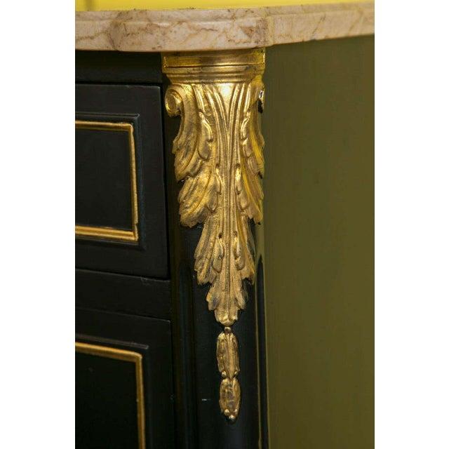 Maison Jansen Ebonized Marble-Top Commode - Image 3 of 10