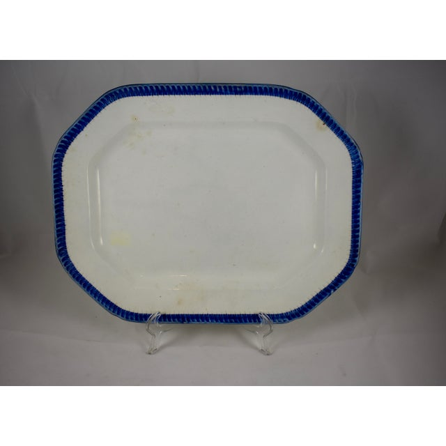 English Leeds Feather or Shell Edge pearlware Platter - Image 2 of 9
