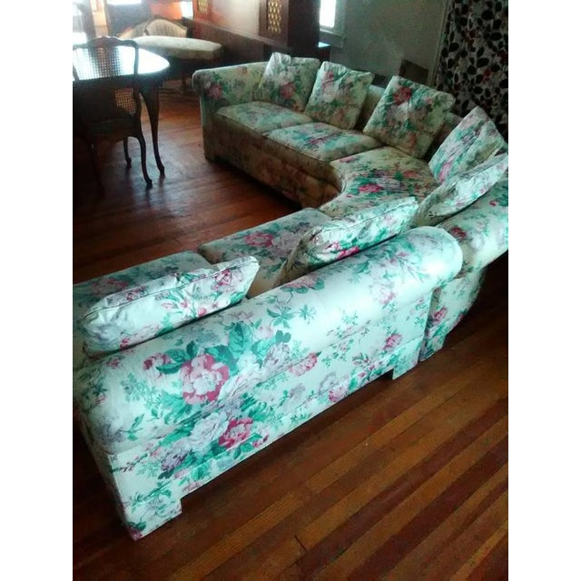 Vintage Ethan Allen Curved Sectional Sofa - Image 4 of 8