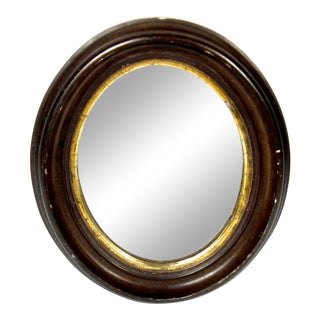 Late 19th Century Antique Oval Wall Mirror For Sale