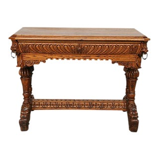 Dolphine French Renaissance Writing Table For Sale