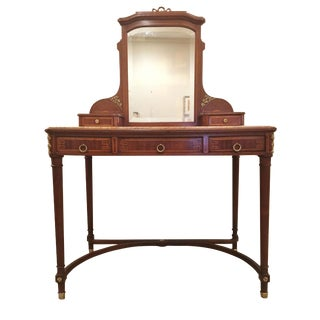 19th Century Louis XVI Vanity With Beveled Mirror For Sale