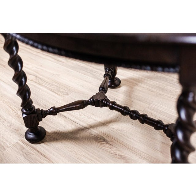 19th-Century Carved Table With Chairs For Sale - Image 10 of 11