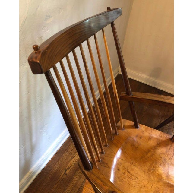 """George Nakashima 1940s Vintage George Nakashima Style """"New"""" Chairs- A Pair For Sale - Image 4 of 6"""