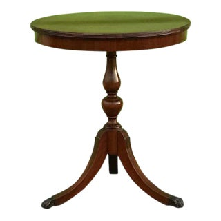 Traditional Vintage Imperial Drum Entry Table For Sale
