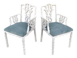 Image of Linen Bergere Chairs