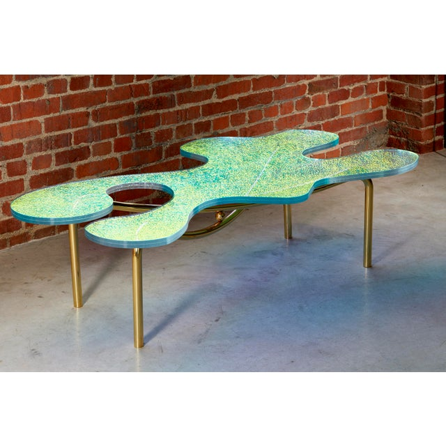 Abstract Picasso Coffee Table by Artist Troy Smith - Contemporary Design - Artist Proof - Limited Edition For Sale - Image 3 of 7