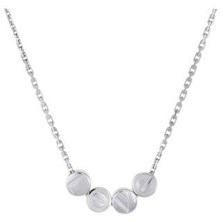 Cartier Love Logo Slide Necklace 18 Karat White Gold For Sale