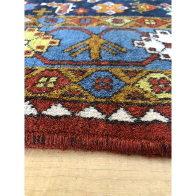 "1950s Vintage Hand-Knotted Wool Tribal Afshar Rug-3'6""x5'1"" For Sale In Sacramento - Image 6 of 13"