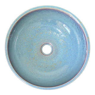 Contemporary Light Blue Porcelain Sink Basin