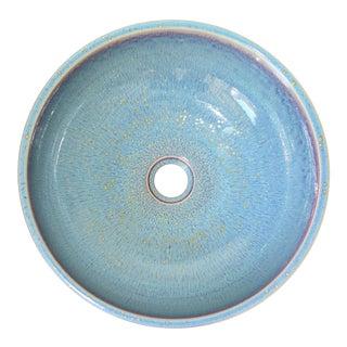 Contemporary Light Blue Porcelain Sink Basin For Sale