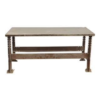 1940s Industrial Steel/Metal Worktable For Sale