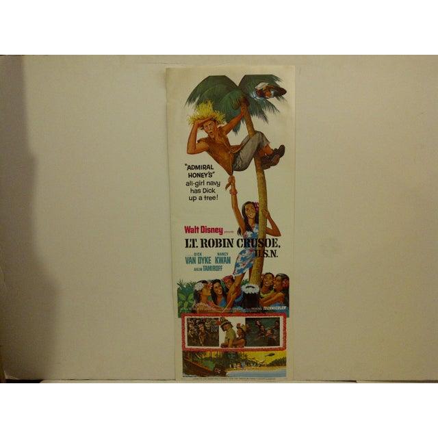 """A Vintage Movie Poster -- """"Lt. Robin Crusoe, U.S.N."""" -- Starring -- Dick Van Dyke And Nancy Kwan -- R74/280 -- Copyright..."""